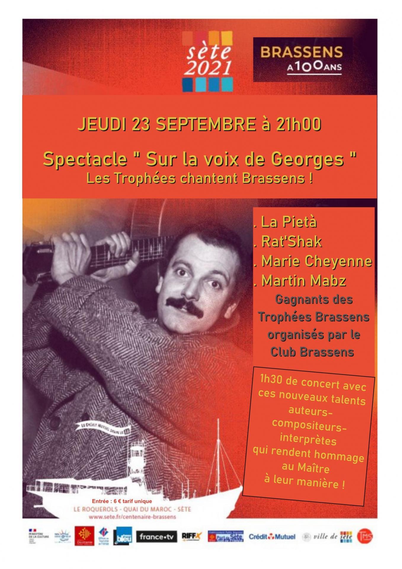 Affiche club brassens 23 septembre